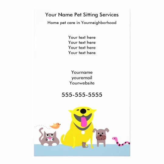 Pet Sitting Flyer Template Free Inspirational Pet Sitters Flyer Blue Flyer