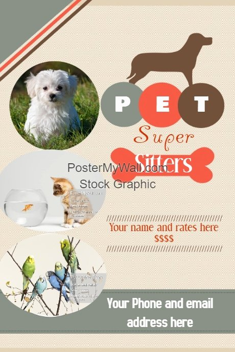 Pet Sitting Flyer Template Free Lovely Pet Sitter Flyer Announcement Poster Template