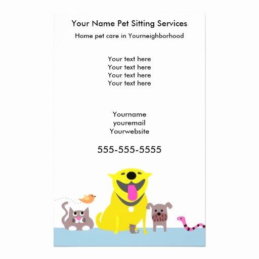 Pet Sitting Flyer Template Free Lovely Pet Sitters Flyer Blue Flyer