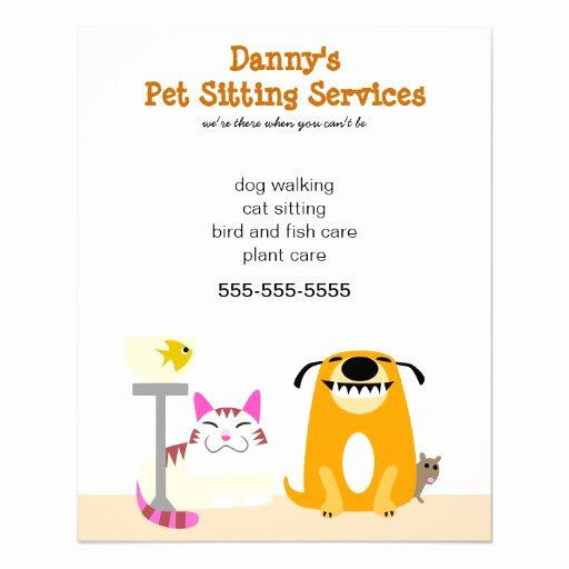 Pet Sitting Flyer Template Free New Pet Sitter S Promotional Personalized Flyer