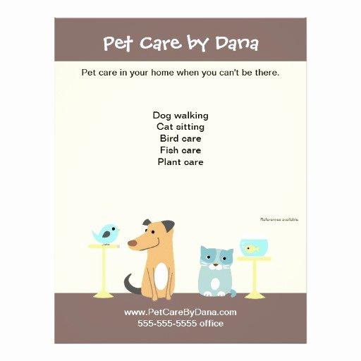 Pet Sitting Flyer Template Free Unique Pet Sitter S Promotional Flyer