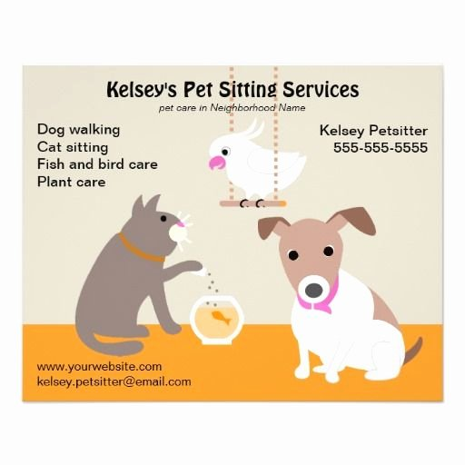 Pet Sitting Flyer Template Fresh Pet Sitting Business Advertising Pet Sitting