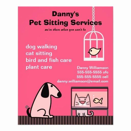 Pet Sitting Flyer Template Lovely Pet Sitter S Dog & Cat Red Full Color Flyer
