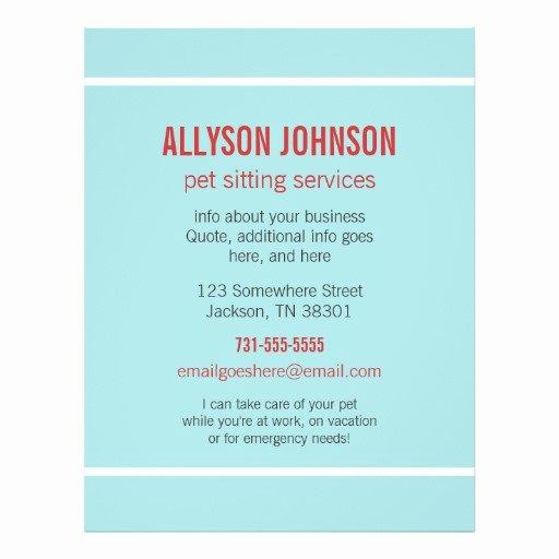 Pet Sitting Flyer Template Luxury 86 Pet Sitting Flyers Pet Sitting Flyer Templates and