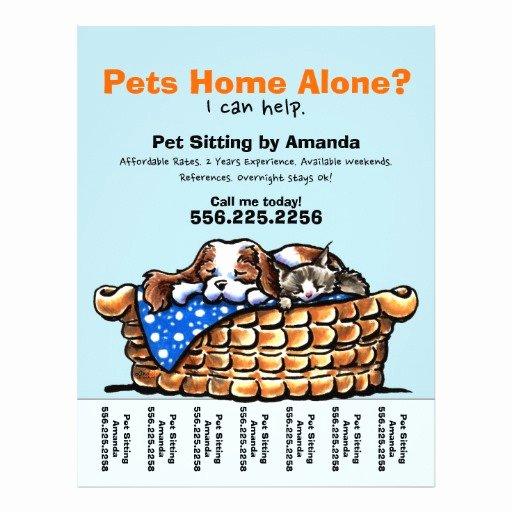Pet Sitting Flyer Template New Pet Sitter Sitting Personalized Tear Sheet Custom Flyer