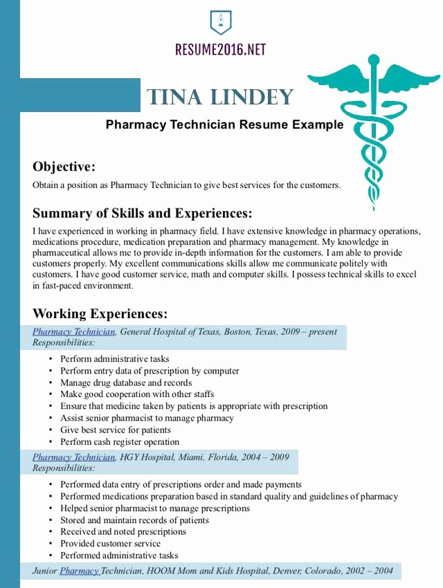 Pharmacist Resume Templates Elegant Pharmacist Resume Example 2016