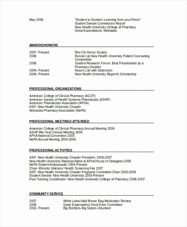 Pharmacist Resume Templates Lovely Pharmacist Resume Template 6 Free Word Pdf Document