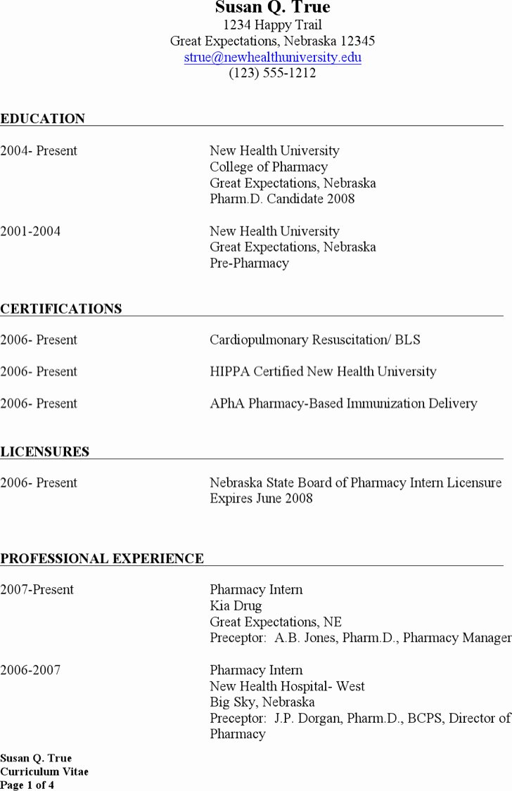 Pharmacist Resume Templates New Download Pharmacist Resume Templates for Free Tidytemplates