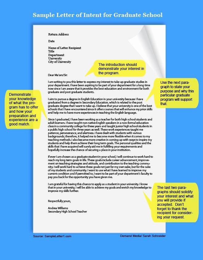 Phd Letter Of Intent Sample Elegant How to Write A Letter Of Intent for Graduate School