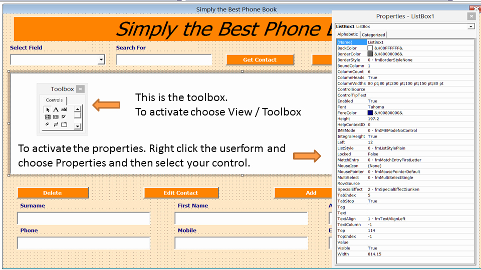 Phone Book Template Excel Best Of Excel Phone Book Contact Manager Excel 2010 Line