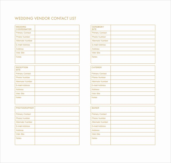 Phone List Template Word Best Of Contact List Template 14 Download Free Documents In Pdf