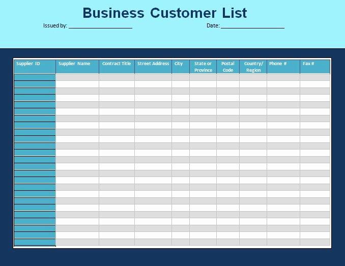 Phone List Template Word Elegant Customer List Template