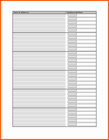 Phone List Template Word Fresh Phone Directory Template Microsoft