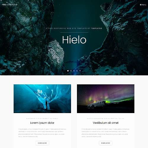 Photo Gallery Template HTML5 Awesome Templated Free Css HTML5 and Responsive Site Templates