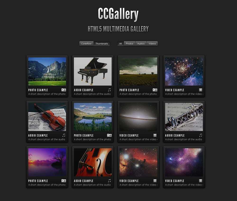 Photo Gallery Template HTML5 Best Of Ccgallery HTML5 Multimedia Gallery by Cosmocoder