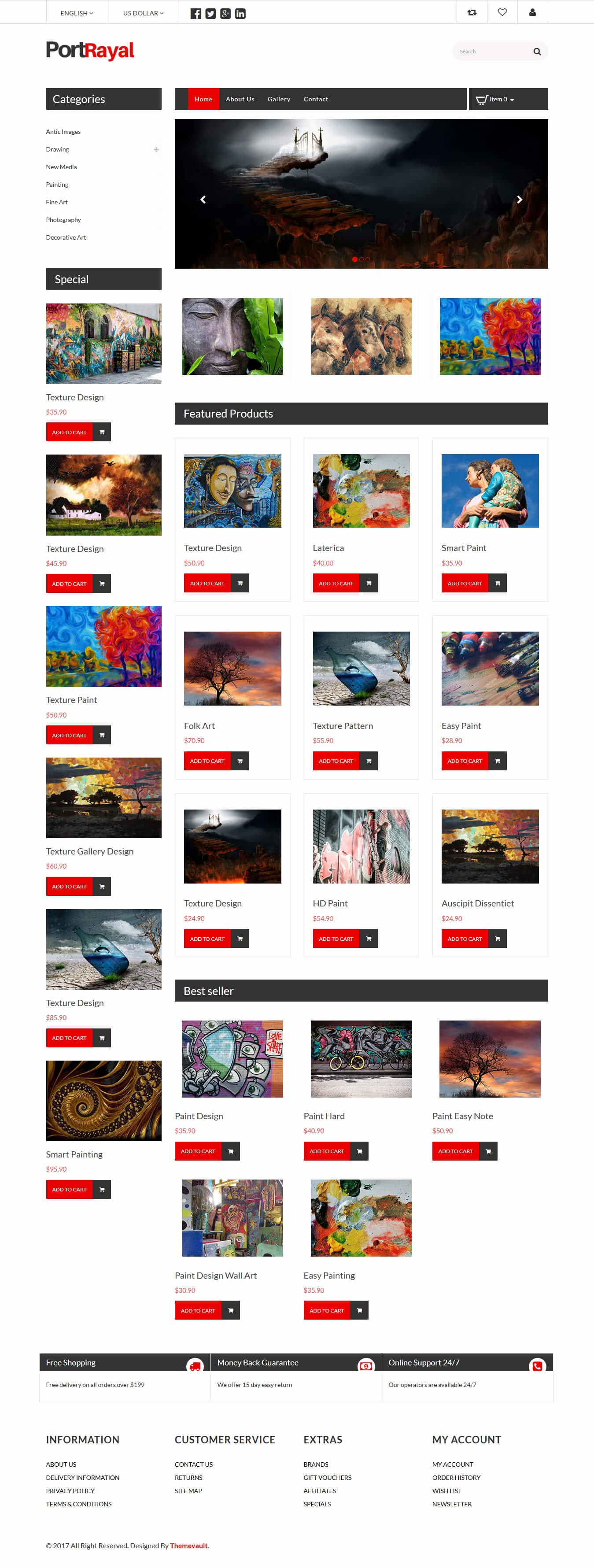 Photo Gallery Template HTML5 Unique Portrayal – HTML5 Line Art Gallery Website Template