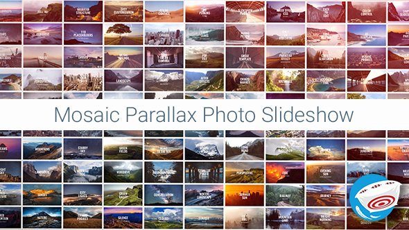 Photo Mosaic after Effects Luxury Mosaic Parallax Slideshow Special events after
