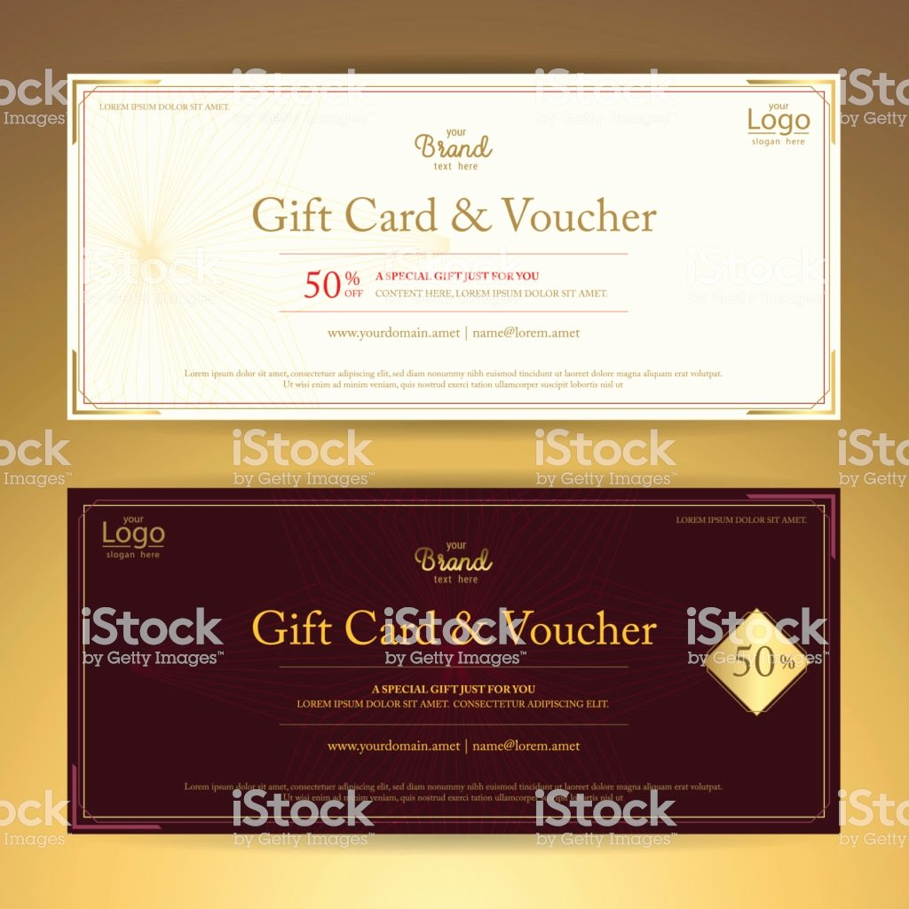 Photography Coupon Template Lovely Elegant Gift Voucher Gift Card Coupon Template Stock