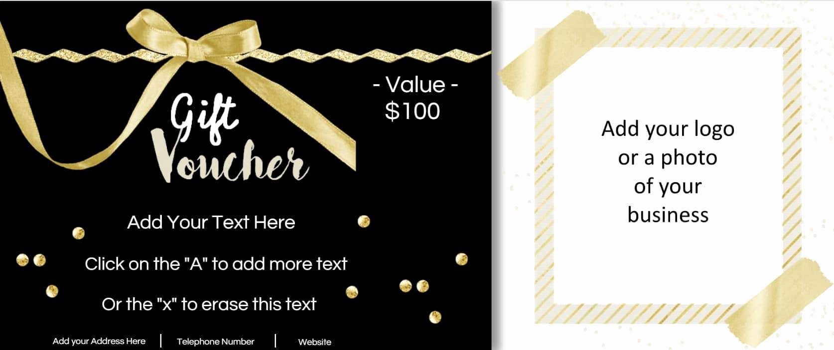 Photography Coupon Template Unique Gift Vouchers
