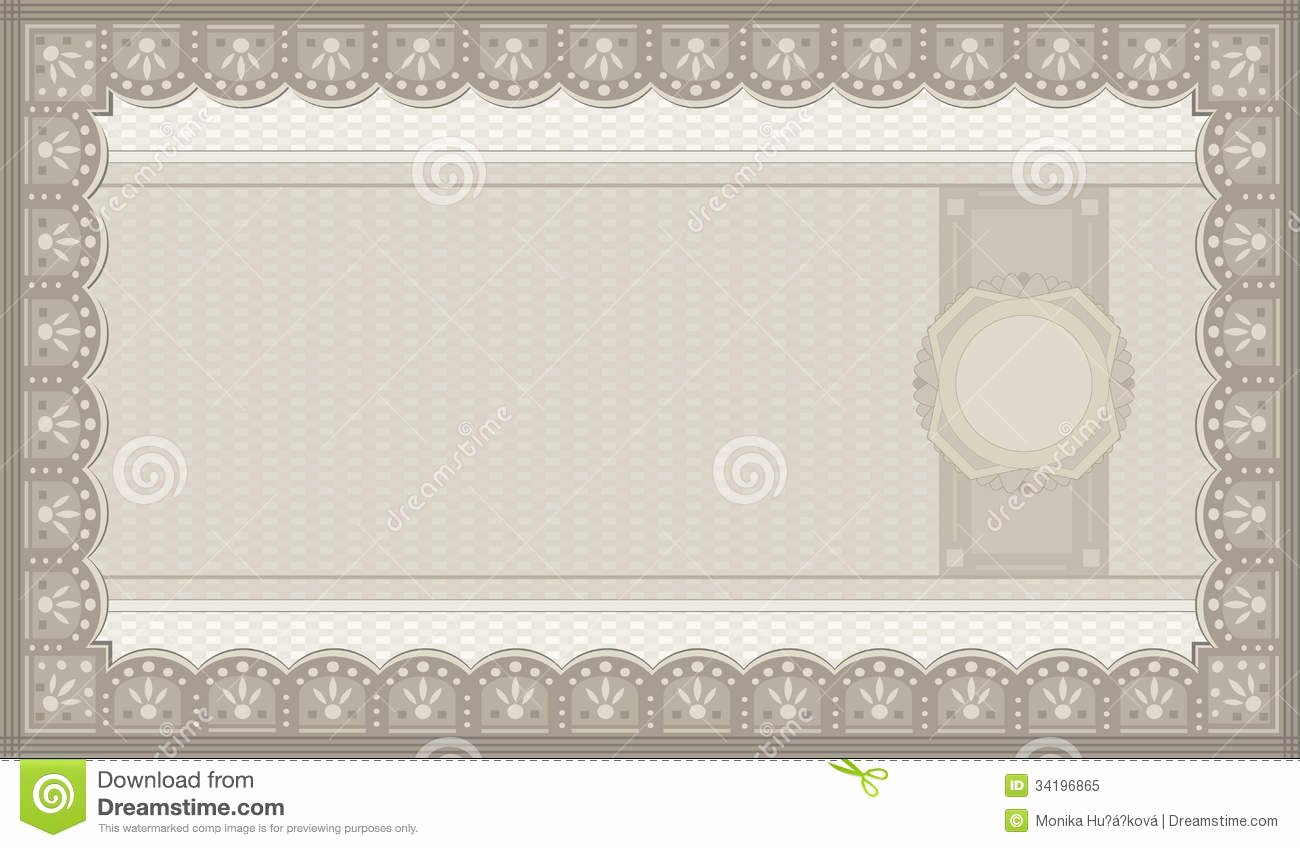 Photography Coupon Template Unique Voucher Coupon Paper Royalty Free Stock Image