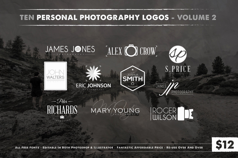 Photography Logo Design Templates Beautiful Graphy Logos Vol 2 Logo Templates Creative Market