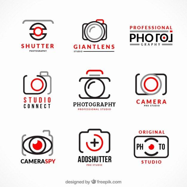 Photography Logo Design Templates Elegant Collection Of Photography Logos Vector