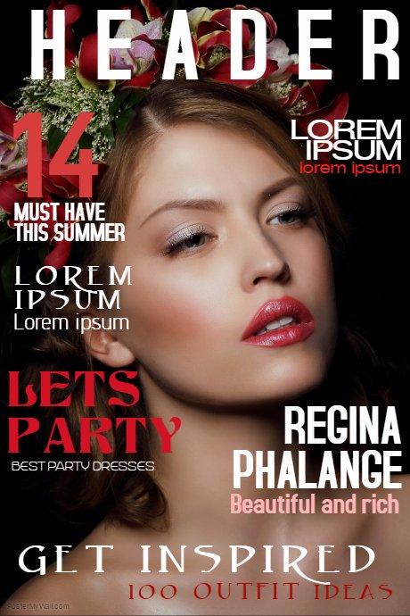 Photoshop Magazine Cover Template Elegant Copy Of Fashion Beauty Magazine Cover Template