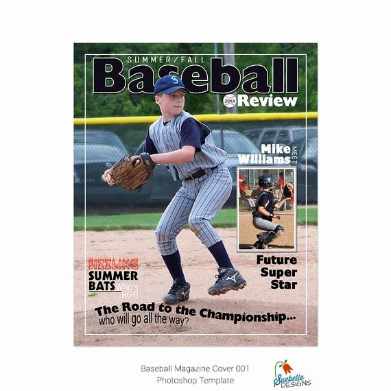 Photoshop Magazine Cover Template Luxury Baseball Magazine Cover Shop Template