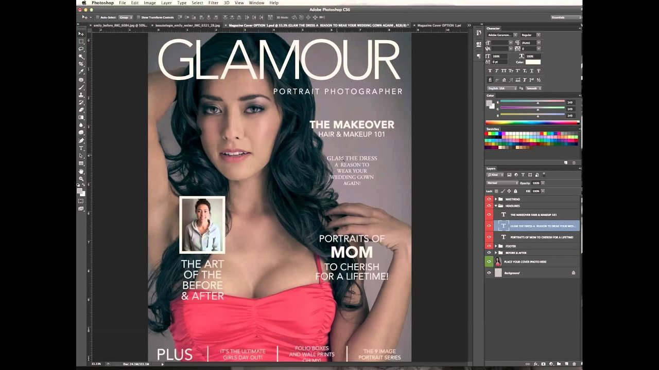 Photoshop Magazine Cover Template Luxury Designing & Editing A Magazine Cover In Shop