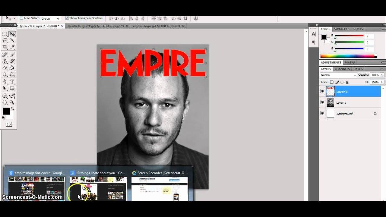 Photoshop Magazine Cover Template Unique Empire Magazine Shop Template