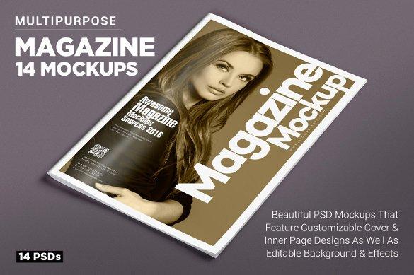 Photoshop Magazine Cover Template Unique Magazine Cover Psd Templates 54 Free Psd Ai Vector