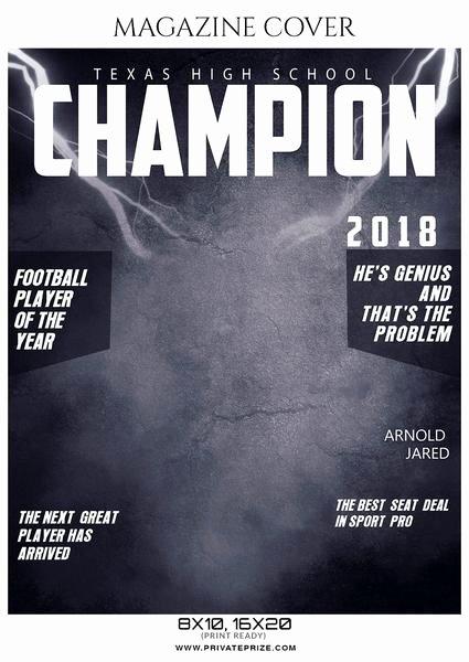Photoshop Magazine Template Awesome softball Sports Graphy Magazine Cover
