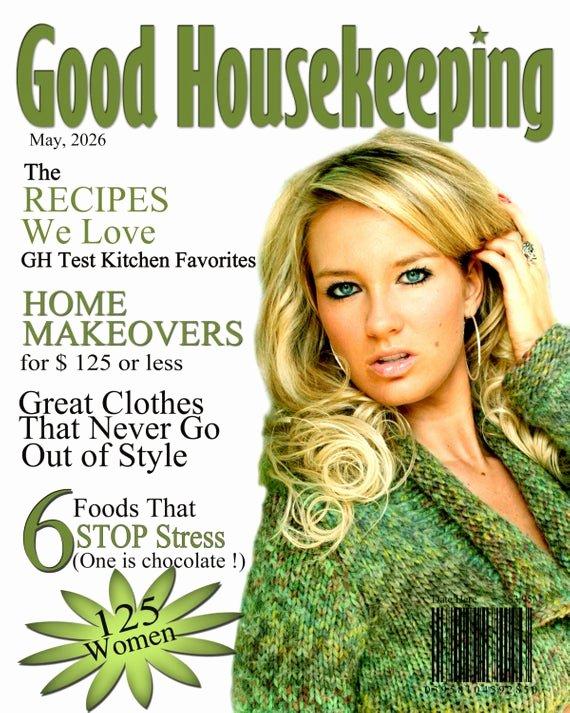 Photoshop Magazine Template Beautiful Good Housekeeping Magazine Cover 1 8x10 Digital Shop