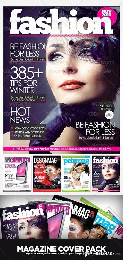 Photoshop Magazine Template Beautiful Graphicriver Magazine Cover Templates Templates4share