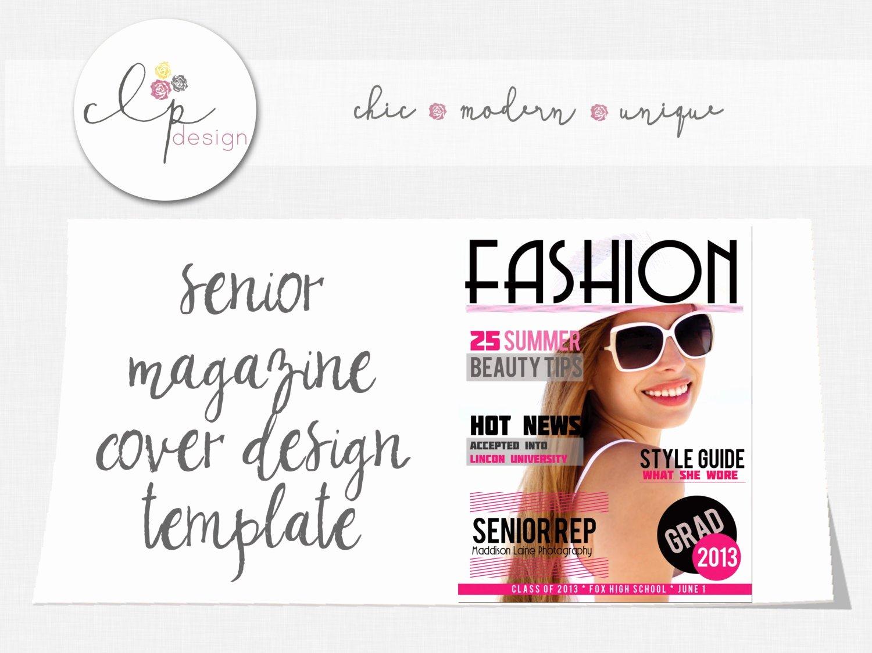 Photoshop Magazine Template Lovely Magazine Cover Template Fashion Senior Shop