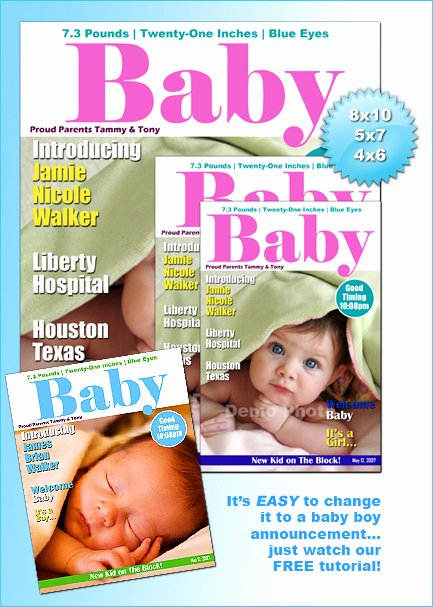 Photoshop Magazine Template Luxury Baby Magazine Cover Template Shop or Shop