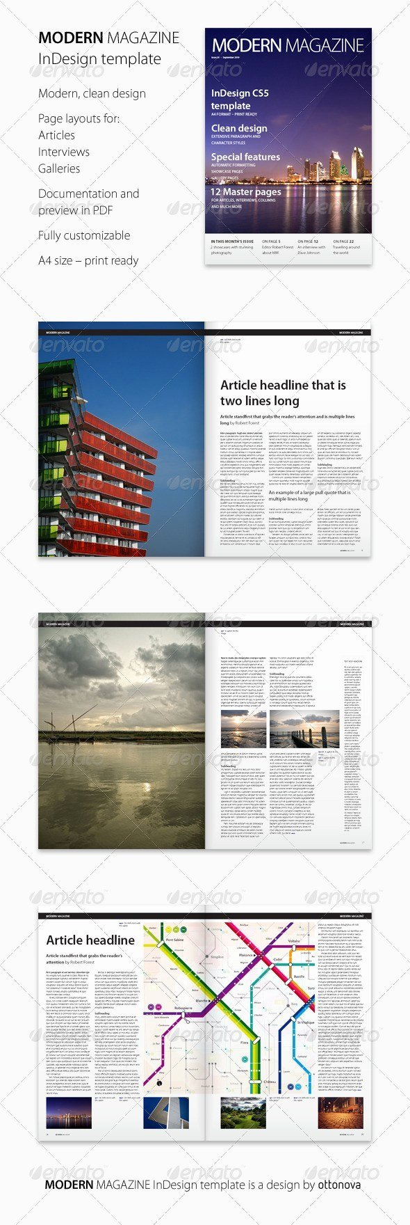 Photoshop Magazine Template New 55 Best Magazine Templates Shop Psd & Indesign