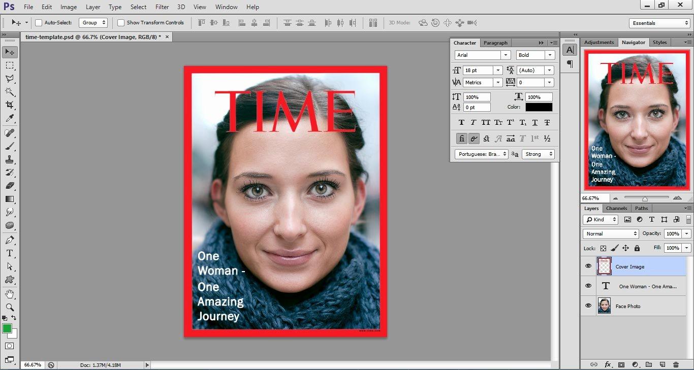 Photoshop Magazine Template New Time Magazine Cover Template D Webdesignlike