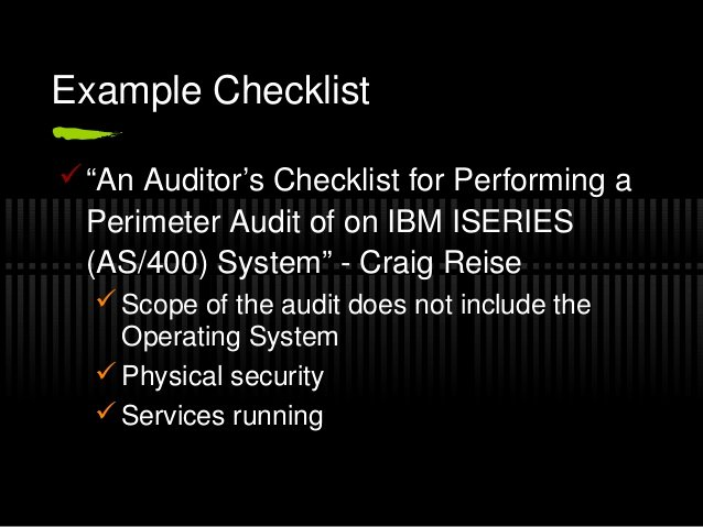 Physical Security Audit Checklist Awesome Security Audit