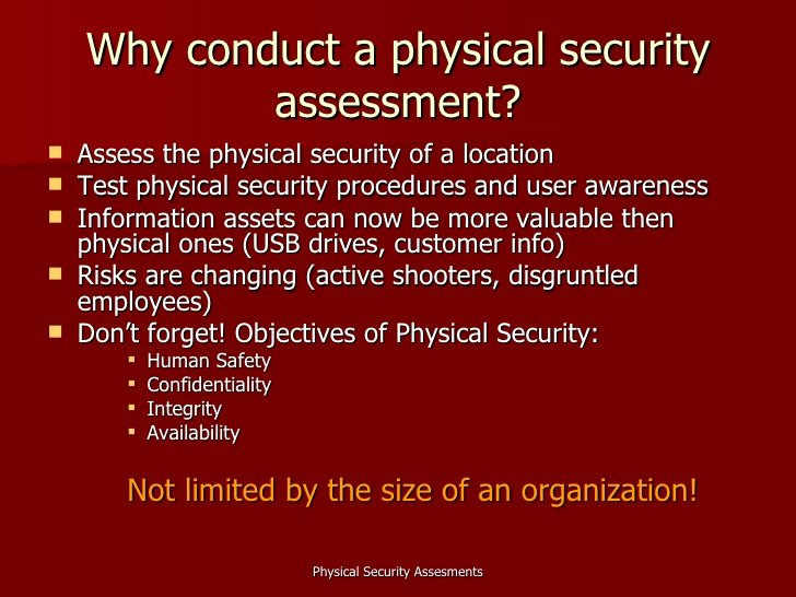 Physical Security Audit Checklist Fresh Physical Security assessments