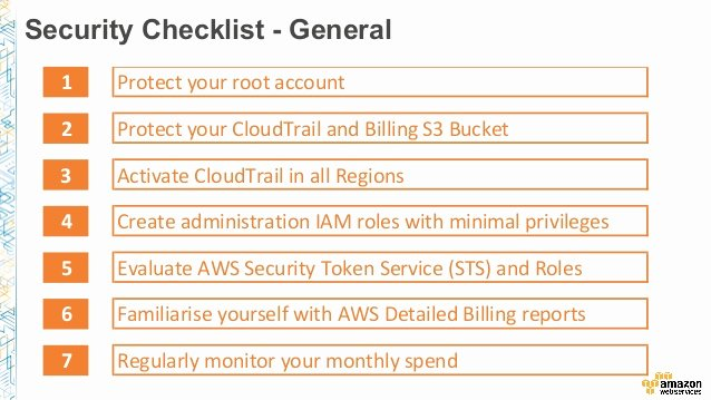 Physical Security Audit Checklist New Aws Security Checklist