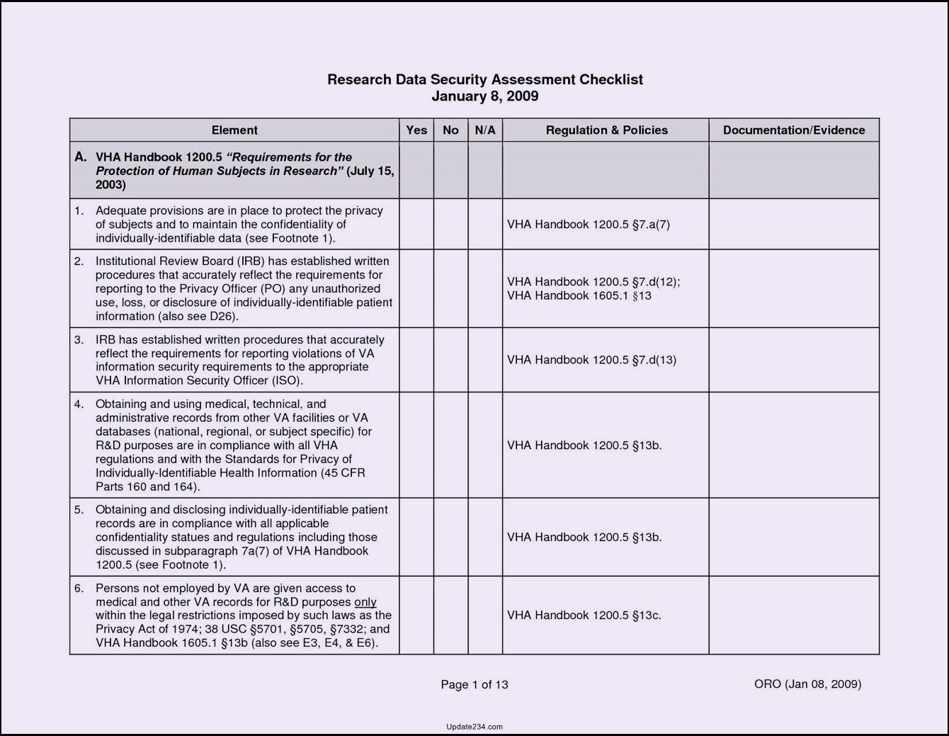 Physical Security Checklist Template Fresh 26 Of Facility Security assessment Template
