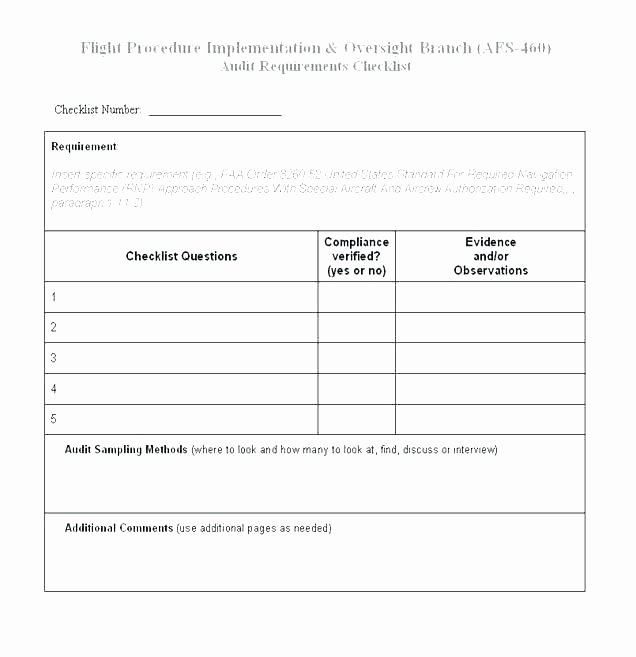 Physical Security Checklist Template New Mortgage Loan Audit Checklist