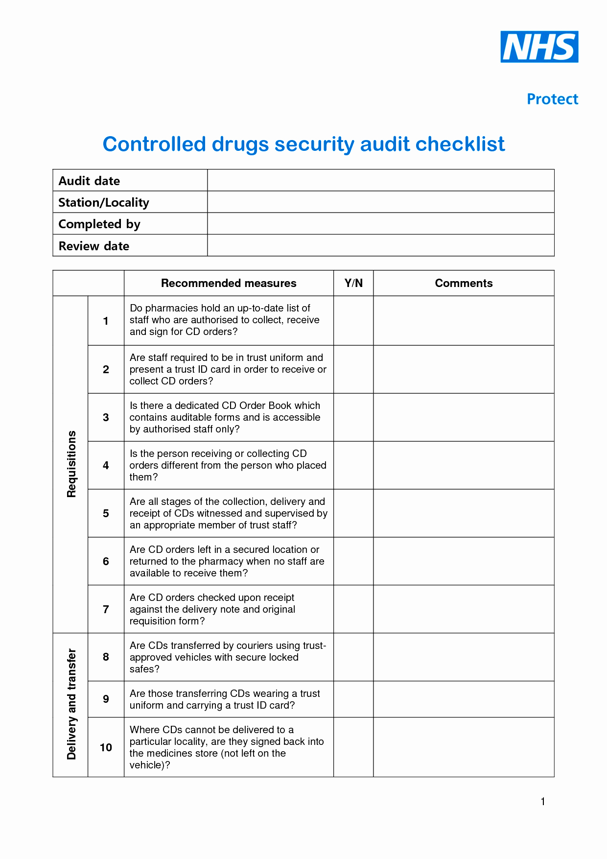 Physical Security Inspection Checklist Lovely 28 Of Blank Security Checklist Template