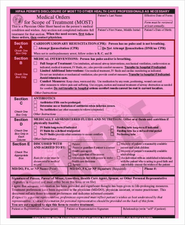 Physician order forms Templates Unique Medical order forms 11 Free Word Pdf format Download