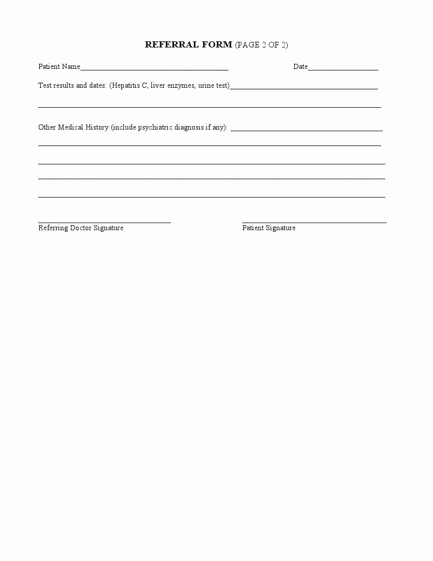 Physician Referral form Template Awesome Medical Referral form – Medical form Templates