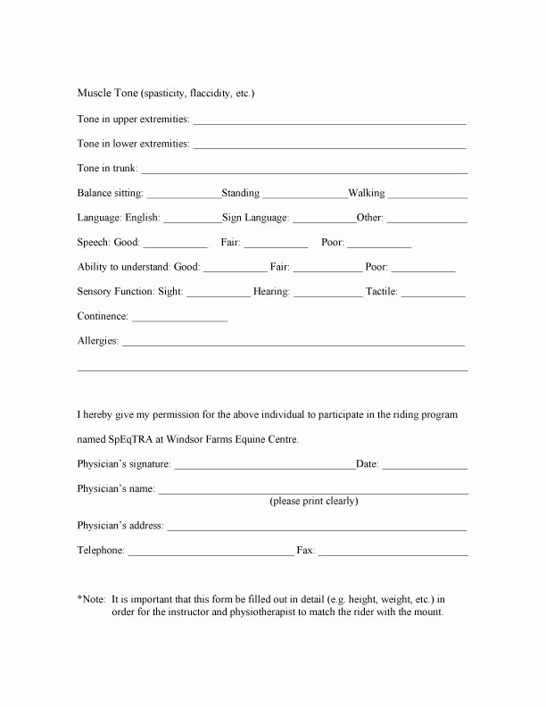 Physician Referral form Template Best Of Clients