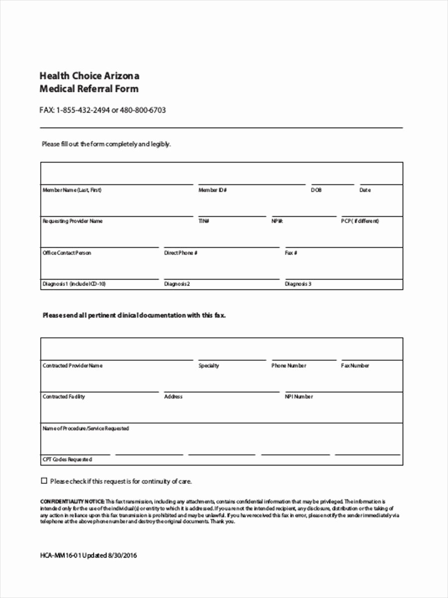 Physician Referral form Template Best Of Medical Referral form 8 Free Documents In Word Pdf