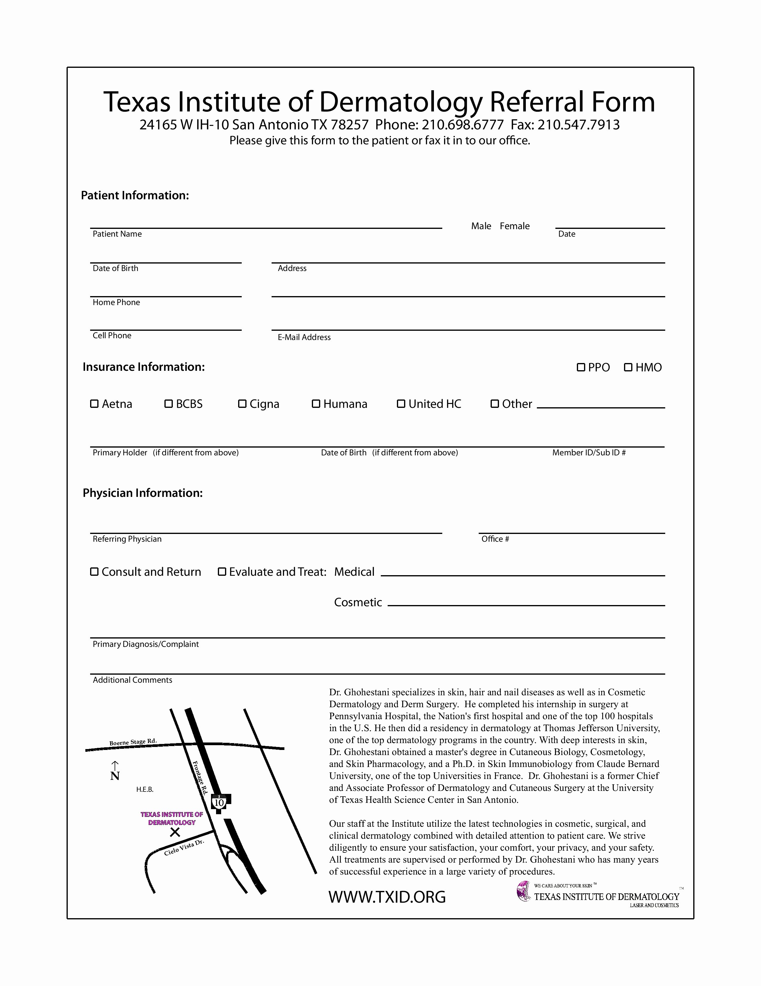 Physician Referral form Template Inspirational Doctor Referral forms