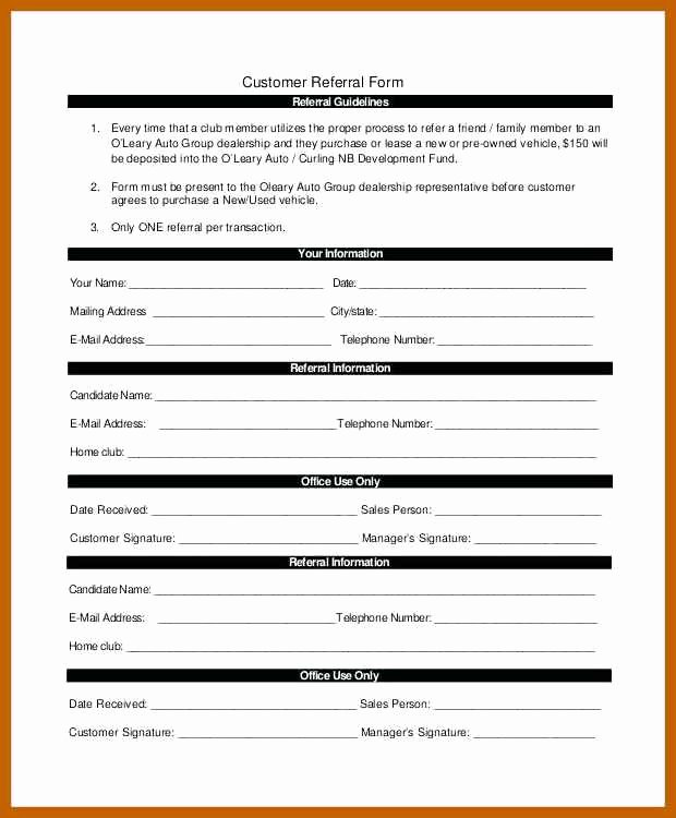 Physician Referral form Template Luxury 5 6 Referral form Template